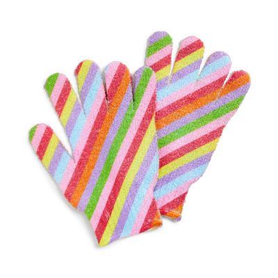Mood Boost Rainbow Exfoliating Gloves