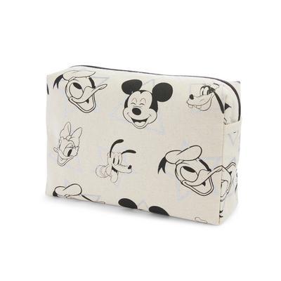 Ivory Canvas Disney Mickey Mouse Print Washbag
