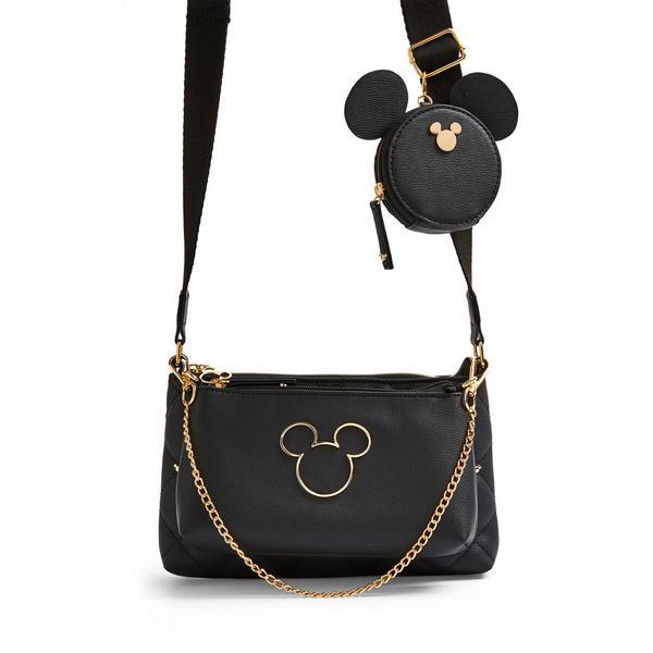 Zwarte 3-in-1 schoudertas Disney Minnie Mouse met studs