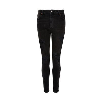 Black Denim Extreme Ripped Skinny Jeans