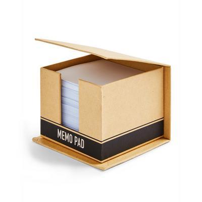 Brown Cardboard Memo Block