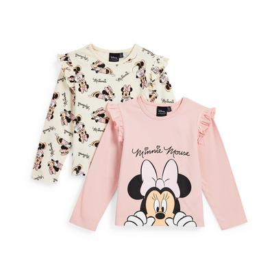 Younger Girl Pink Disney Minnie Mouse Longsleeve T-Shirts 2 Pack