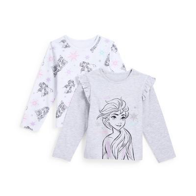 Younger Girl Disney Frozen Print Longsleeve T-Shirts 2 Pack