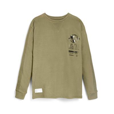 Older Boy Olive Ottoman T-Shirt