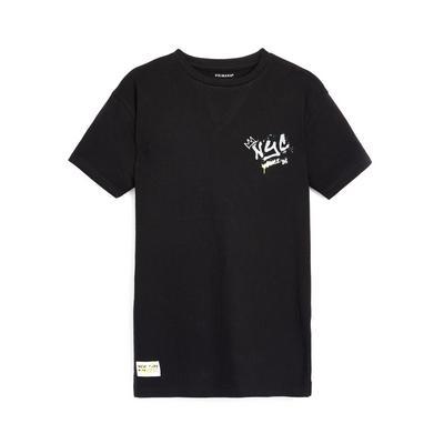 Older Boy Black Graffiti Print T-Shirt