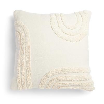 Ivory Tufted Arch Cushion 50cm