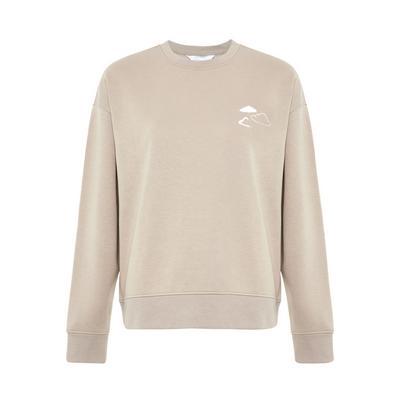 Stone Cloud Print Sweater