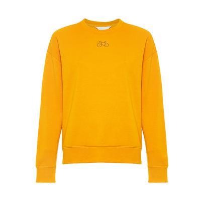 Yellow Bicycle Print Sweatshirt