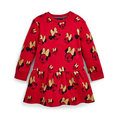 Younger Girl Red Disney Minnie Mouse Sweatshirt Dress