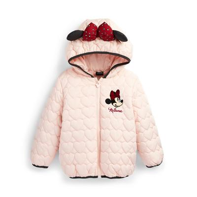 Younger Girl Pink Disney Minnie Mouse Quilted Jacket