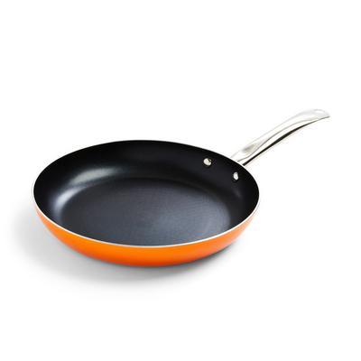 Large Orange Frying Pan