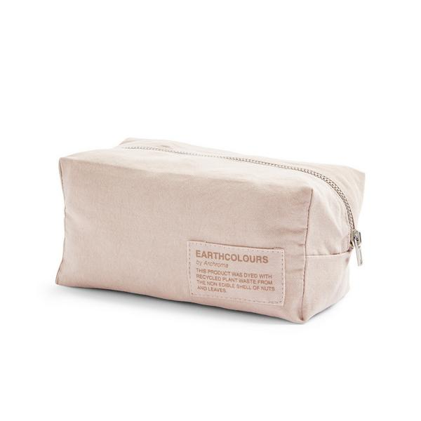 """Roséfarbene """"Earthcolors By Archroma"""" Make-up-Tasche aus Bio-Baumwolle"""