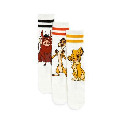 Raznolike nogavice Levji kralj, 3 pari