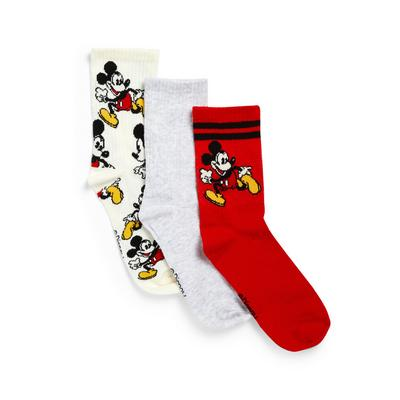 3-Pack Multi Disney Mickey Mouse Crew Socks