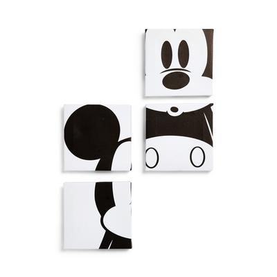 Disney Mickey Mouse Wall Art 4 Pack