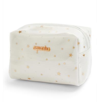 White Aquarius Horoscope Perspex Make Up Bag