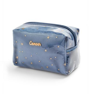 Navy Cancer Horoscope Perspex Make Up Bag