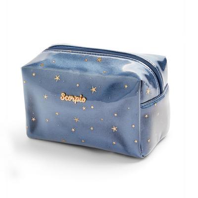 Navy Scorpio Horoscope Perspex Make Up Bag