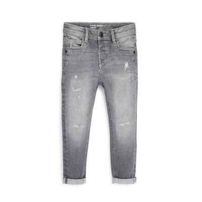 Younger Boy Gray Denim Skinny Jeans
