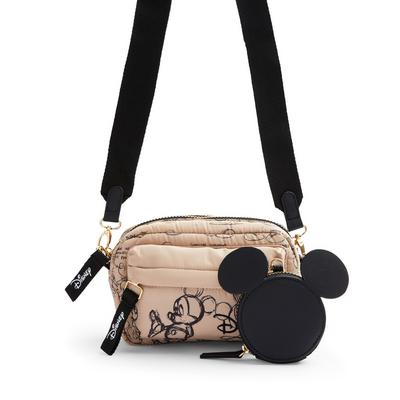 Pink Nylon Disney Minnie Mouse Sketchy Crossbody Bag