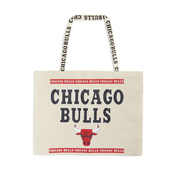 Extra Large Ivory NBA Chicago Bulls Canvas Shopper Bag