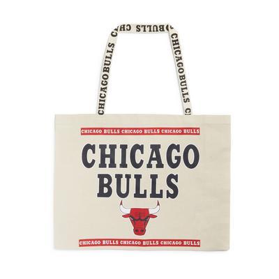 Extra Large Ivory NBA Chicago Bulls Canvas Shopper
