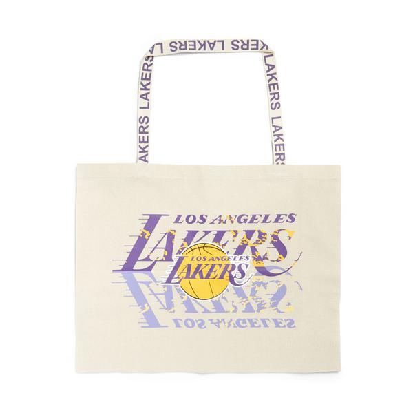 Extra Large Ivory NBA LA Lakers Canvas Shopper Bag