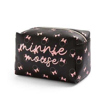 Disney Minnie Mouse Black Glitter Make Up Bag