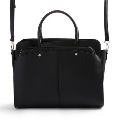 Black Removable Pouch Oversized Bag