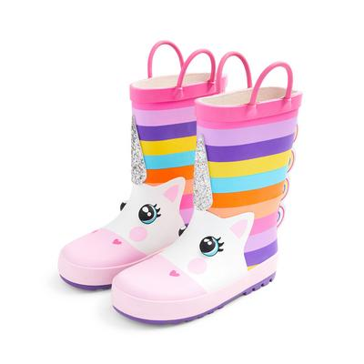 Younger Girl Multicolour Unicorn Rainboots