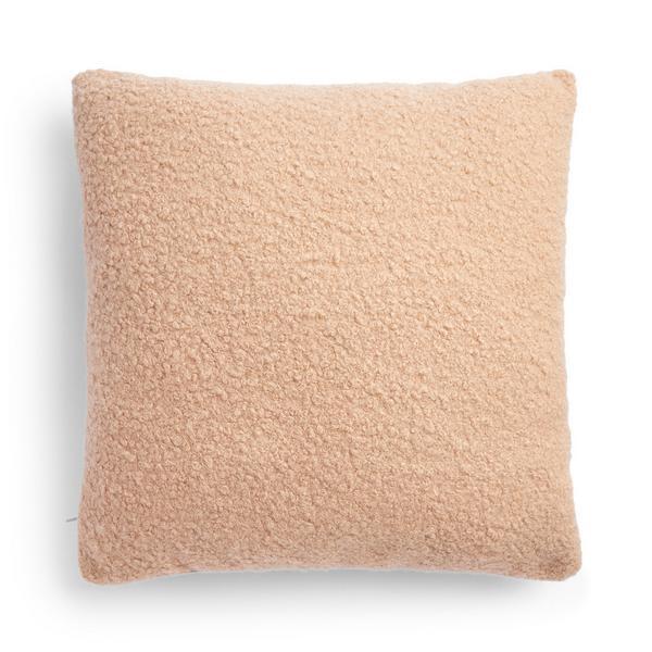 Peach Boucle Cushion