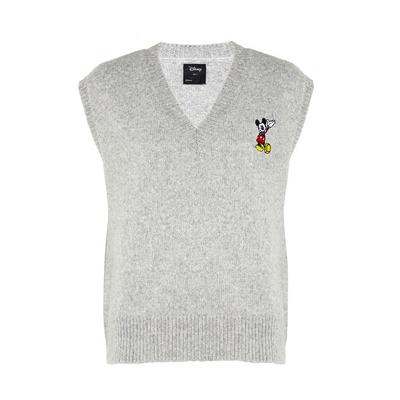 Pull sans manches gris Disney Mickey Mouse
