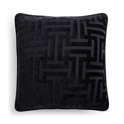 Capa almofada padrão meandro preto