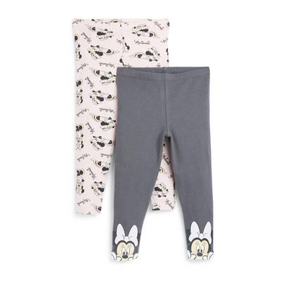 Younger Girl Disney Minnie Mouse Print Leggings 2 Pack