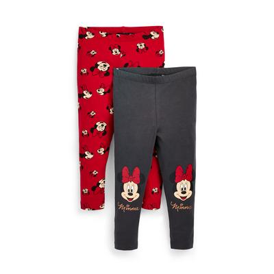 Younger Girl Disney Minnie Mouse Leggings, 2 Pack