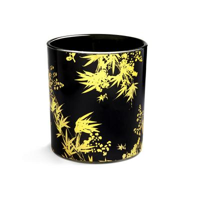 Black Printed Decal Votive Candle