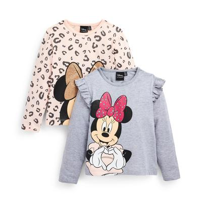 Younger Girl Mixed Disney Minnie Mouse Longsleeve T-Shirts 2 Pack