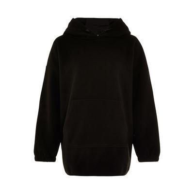 Great Outdoors Black Fleece Longline Hoodie