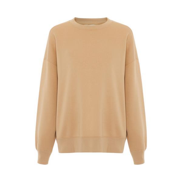 Sweat-shirt beige oversize avec empiècement côtelé Primark Cares