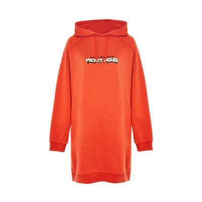 Robe sweat à capuche orange Disney Mickey Mouse
