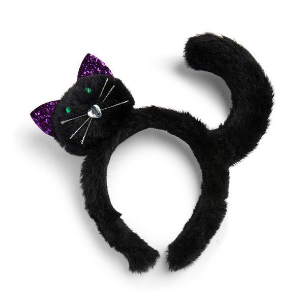 Serre-tête noir chat pour Halloween
