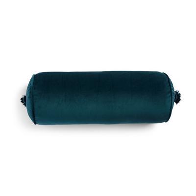 Blaugrünes Polsterkissen aus Samt