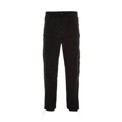 Black Tech Cargo Trousers