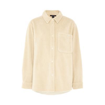 Ivory Fleece Pocket Shirt
