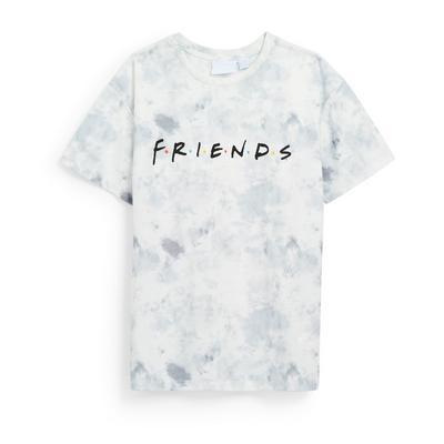 Grijs tie-dye T-shirt met Friends-print voor meisjes