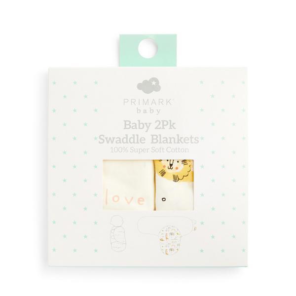Wickeldecken für Babys, 2er-Pack