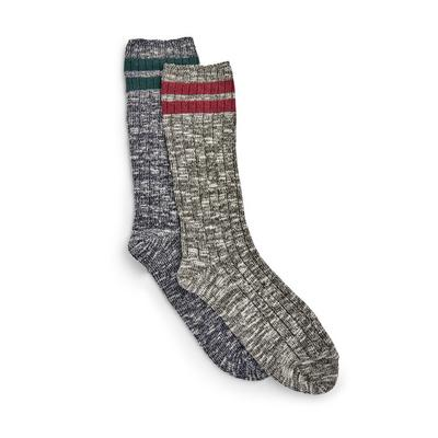 Grey Marl Stronghold Socks 2 Pack