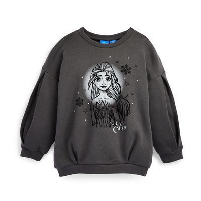 Younger Girl Charcoal Disney Frozen Crew Neck Sweater