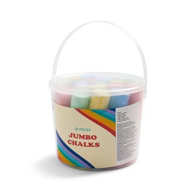 Pot met stoepkrijt in meerdere kleuren, 20 stuks