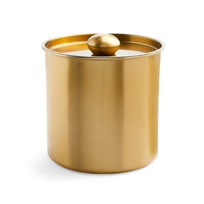 Goldtone Brushed Ice Bucket